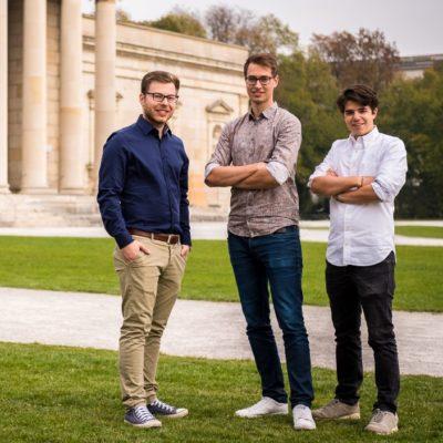 Das SEWTS Team (v. l.): Tim Doerks, Till Rickert and Alexander Bley